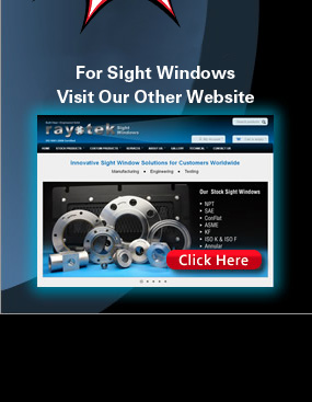 Rayotek Sight Window hi-pressure sight windows and testing website.